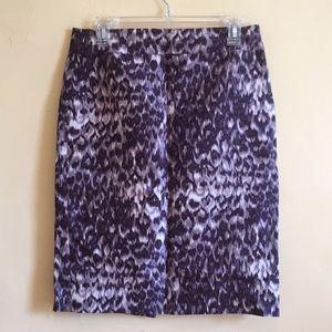 {J CREW} Leopard Print Pencil Skirt